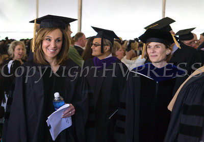 Rosanna Scotto (left) received Doctor of Letters, honoris causa, during Mount Saint Mary College's 51st Commencement Exercises in Newburgh, NY on Saturday, May 17, 2014. Hudson Valley Press/CHUCK STEWART, JR.