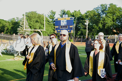 Seniors process onto Academy Field at Newburgh Free Academy for NFA's 149th Commencement Exercises for the graduating Class of 2014 on Thursday, June 26, 2014. Hudson Valley Press/CHUCK STEWART, JR.