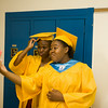 Seniors take a selfie prior to Newburgh Free Academy's 149th Commencement Exercises for the graduating Class of 2014 on Academy Field in the City of Newburgh, NY on Thursday, June 26, 2014. Hudson Valley Press/CHUCK STEWART, JR.