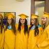 Seniors gather for the last time prior to Newburgh Free Academy's 149th Commencement Exercises for the graduating Class of 2014 on Academy Field in the City of Newburgh, NY on Thursday, June 26, 2014. Hudson Valley Press/CHUCK STEWART, JR.