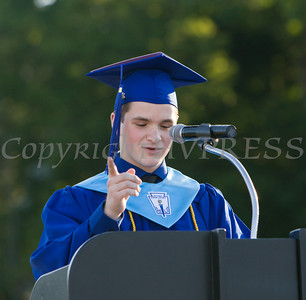 Poughkeepsie High School Salutatorian Matthew Anderson offers remarks at the 142nd Commencement Exercises for the graduating Class of 2014 on Friday, June 27, 2014 in Poughkeepsie, NY. Hudson Valley Press/CHUCK STEWART, JR.