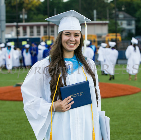 Poughkeepsie High School Valedictorian Nora Abdelrahman is all smiles after the 142nd Commencement Exercises for the graduating Class of 2014 on Friday, June 27, 2014 in Poughkeepsie, NY. Hudson Valley Press/CHUCK STEWART, JR.