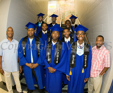 Members of Poughkeepsie High School's Brother 2 Brother group pose prior to the 142nd Commencement Exercises for the graduating Class of 2014 on Friday, June 27, 2014 in Poughkeepsie, NY. Hudson Valley Press/CHUCK STEWART, JR.