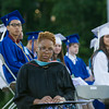 Poughkeepsie High School Principal Phee Simpson listens to remarks during the 142nd Commencement Exercises for the graduating Class of 2014 on Friday, June 27, 2014 in Poughkeepsie, NY. Hudson Valley Press/CHUCK STEWART, JR.