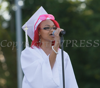 Poughkeepsie High School Senior Vocal Music Students perform at the 142nd Commencement Exercises for the graduating Class of 2014 on Friday, June 27, 2014 in Poughkeepsie, NY. Hudson Valley Press/CHUCK STEWART, JR.
