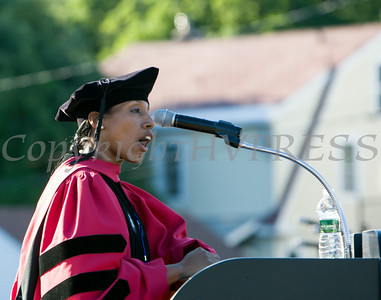 Superintendent Dr. Nicole Williams offers remarks at the Poughkeepsie High School 142nd Commencement Exercises for the graduating Class of 2014 on Friday, June 27, 2014 in Poughkeepsie, NY. Hudson Valley Press/CHUCK STEWART, JR.