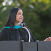 Johnita Byrd offers the Keynote Address for the Poughkeepsie High School 142nd Commencement Exercises for the graduating Class of 2014 on Friday, June 27, 2014 in Poughkeepsie, NY. Hudson Valley Press/CHUCK STEWART, JR.