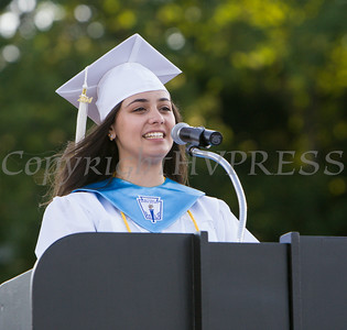 Poughkeepsie High School Class of 2014 Valedictorian Nora Abdelrahman give her address during the school's 142nd Commencement Exercises on Friday, June 27, 2014 in Poughkeepsie, NY. Hudson Valley Press/CHUCK STEWART, JR.