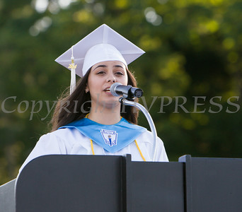 Poughkeepsie High School Valedictorian Nora Abdelrahman offers remarks at the 142nd Commencement Exercises for the graduating Class of 2014 on Friday, June 27, 2014 in Poughkeepsie, NY. Hudson Valley Press/CHUCK STEWART, JR.