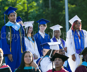 Poughkeepsie High School held its 142nd Commencement Exercises for the graduating Class of 2014 on Friday, June 27, 2014 in Poughkeepsie, NY. Hudson Valley Press/CHUCK STEWART, JR.