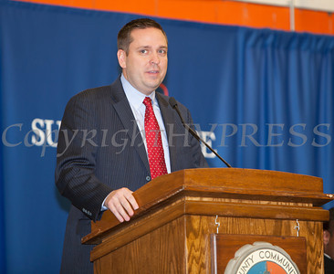 Orange County Executie Steven Neuhaus offers remarks at the 28th Annual Sojourner Truth Awards, held at SUNY Orange in Middletown, NY on Friday, March 14, 2014. Hudson Valley Press/CHUCK STEWART, JR.