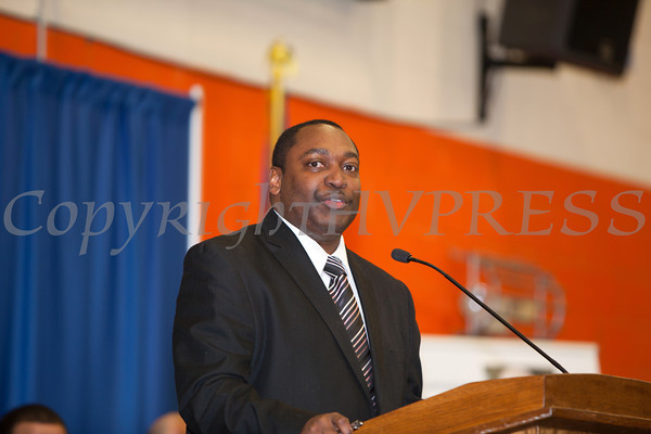 SUNY Orange Vice President of Student Services Paul Broadie, II, offers remarks at the 28th Annual Sojourner Truth Awards, held at SUNY Orange in Middletown, NY on Friday, March 14, 2014. Hudson Valley Press/CHUCK STEWART, JR.