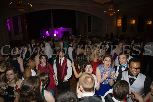 Students pose inside Anthony's Pier 9 in New Windsor, NY on Friday, May 2, 2014, the location of the Valley Central High School Senior Prom. Hudson Valley Press/CHUCK STEWART, JR.