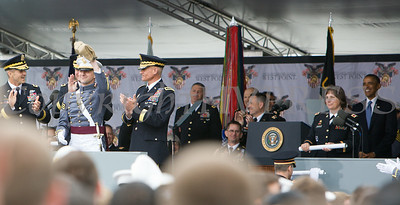 The United States Military Academy Class of 2014 Goat Matthew Mayeaux received one dollar from each graduate during the graduation and commissioning ceremony, held on Wednesday, May 28, 2014 in West Point's Michie Stadium where United States President Barack Obama was the commencement speaker. Hudson Valley Press/CHUCK STEWART, JR.