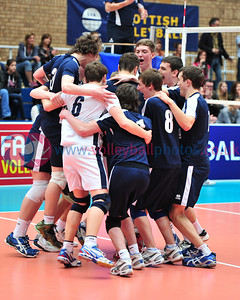 Scottish Volleyball Association, Men's Junior Super Cup Final, Team Lanarkshire v City of Edinburgh, Wishaw Sports Centre, Wishaw.  To buy prints visit: http://www.photoboxgallery.com/volleyballphotos/collection?album_id=2552020351