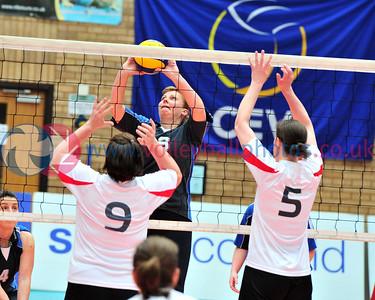 Scottish Volleyball Association, Women's Plate Final North Grampian v Perth, Wishaw Sports Centre, Wishaw.