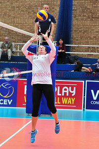 Scottish Volleyball Association, Women's Plate Final North Grampian v Perth, Wishaw Sports Centre, Wishaw.
