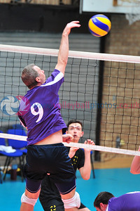 Scottish Volleyball Association, Men's Thistle Bowl, South Ayrshire v Dundee, Wishaw Sports Centre, Wishaw.