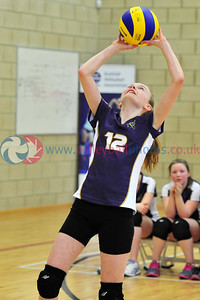 Scottish Volleyball Association Girls Schools Cup Finals, Calderhead High School, Tue 25th Mar 2014