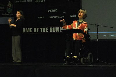 Joni Eareckson Tada speaks at dimensions on September 2nd
