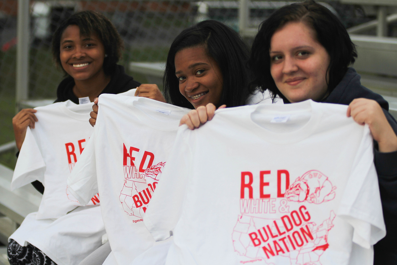First 25 fans at the game received a free Bulldog Nation tee -shirt.