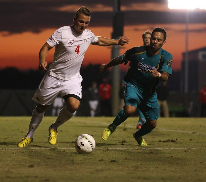 Men's Soccer faced Coastal Carolina tuesday night at GWU.