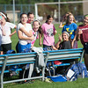 JOED VIERA/STAFF PHOTOGRAPHER-Lockport, NY-Lockport's Girls Varsity Soccer team fools around during practice on Monday, August 18th.