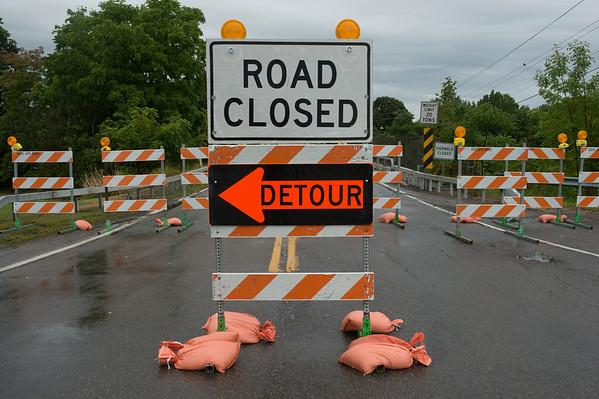 JOED VIERA/STAFF PHOTOGRAPHER-Newfane, NY-The Wilson-Burt Road Bridge is blocked off on Tuesday, September,2nd.
