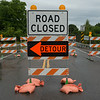 JOED VIERA/STAFF PHOTOGRAPHER-Newfane, NY-The Wilson-Burt Road Bridge is blocked off on Tuesday, September,2nd.