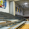 JOED VIERA/STAFF PHOTOGRAPHER-Lockport, NY-New bleachers are being installed in Lockport High School gym on Friday, August, 22nd.