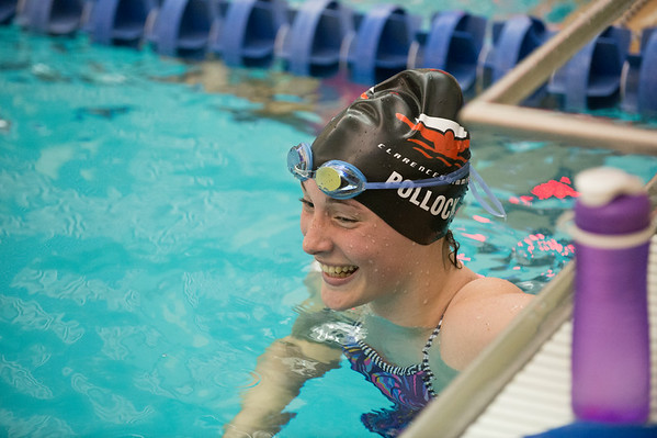 JOED VIERA/STAFF PHOTOGRAPHER-Lockport, NY-Lockport High School swimmer Katie Pollock laughs at practice on Friday, August, 22nd.