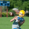 JOED VIERA/STAFF PHOTOGRAPHER-Lockport, NY-Patrick Flaherty a Junior catches the ball during practice on Monday, August 18th.