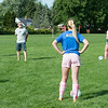 JOED VIERA/STAFF PHOTOGRAPHER-Lockport, NY-Lockport's Girl Varsity's Haley Rice listens to coach during practice on Monday, August 18th.