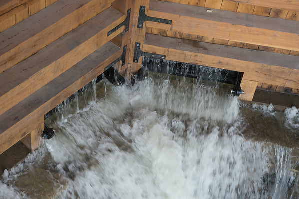 JOED VIERA/STAFF PHOTOGRAPHER-Lockport, NY-The flight of five's wooden doors block water on Friday, August, 22nd.