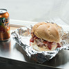 JOED VIERA/STAFF PHOTOGRAPHER-Lockport, NY- Big Boss BBQ food truck's staple Slawwich on Wednesday, August 20th.