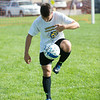 JOED VIERA/STAFF PHOTOGRAPHER-Lockport, NY-Lockport's Boys Varsity Soccer player Dan DiMillo a Junior runs a drill during practice on Monday, August 18th.