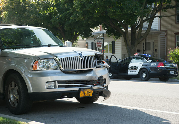 JOED VIERA/STAFF PHOTOGRAPHER-Lockport, NY-A collision on East Ave on Friday, August, 22nd.