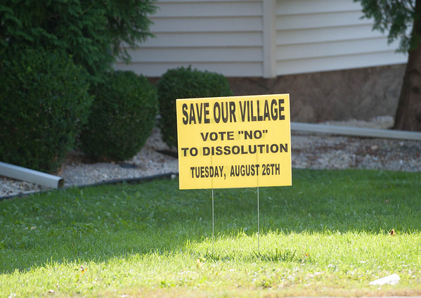 JOED VIERA/STAFF PHOTOGRAPHER-Wilson, NY- The Village of Wilson vote's on dissolution on Tuesday, August, 26th.