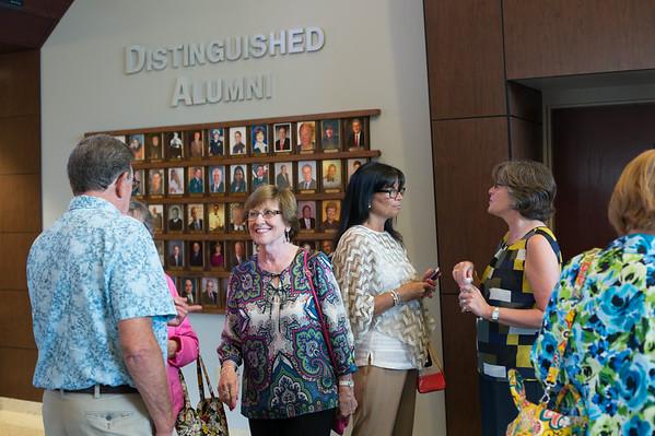 JOED VIERA/STAFF PHOTOGRAPHER-Lockport, NY- Alumni mingle at Lockport High School's Distinguished Alumni reception on Thursday, August, 21st.
