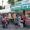 JOED VIERA/STAFF PHOTOGRAPHER-Wilson, NY-Patrons wait in line for ice cream at the fair on  Thursday, August, 21st.