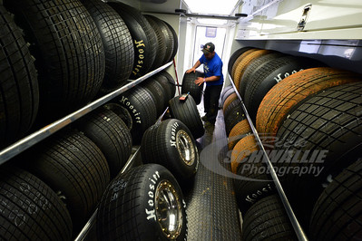 Getting tires ready for Don O'Neal