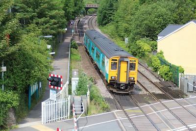 150267 passes Pencoed Station Crossing  14/06/14