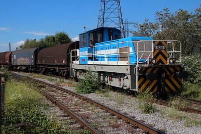 TATA Steel Industrial Shunter 920 'Branwen' approaching Margam Knuckle Yard   13/06/14