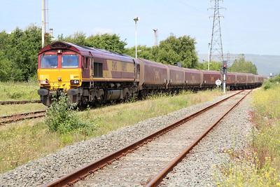 66192 1211/6o32 Onyllwyn-Aberthaw arriving Margam Knuckle Yard   13/06/14