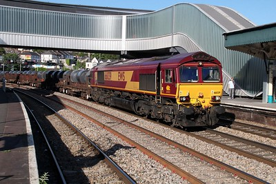 66039 0750/6M96 Margam-Corby passes Newport  13/06/14