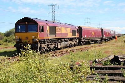 66068 1558/4O11 Margam-Onllywyn departing Margam Knuckle Yard   13/06/14