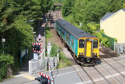 150257 passes Pencoed Station Crossing  14/06/14