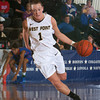 Army Forward Jen Hazlett (1) drives to the basket during their Patriot League Tournament Semifinal game against American at the United States Military Academy's Christl Arena in West Point, NY on Monday, March 10, 2014. Army defeated American, 68-55, to advance to the finals. Hudson Valley Press/CHUCK STEWART, JR.