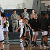 Army Guard Kelsey Minato (5) is introduced prior to their Patriot League Tournament Semifinal game against the American University Eagles at the United States Military Academy's Christl Arena in West Point, NY on Monday, March 10, 2014. Army defeated American, 68-55, to advance to the finals. Hudson Valley Press/CHUCK STEWART, JR.