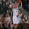 Army Guard Jen Hazlett (1) scored 19 points as the Black Knight's defeated the American University Eagles 68-55 in their Patriot League Tournament Semifinal game at the United States Military Academy's Christl Arena in West Point, NY on Monday, March 10, 2014. Hudson Valley Press/CHUCK STEWART, JR.